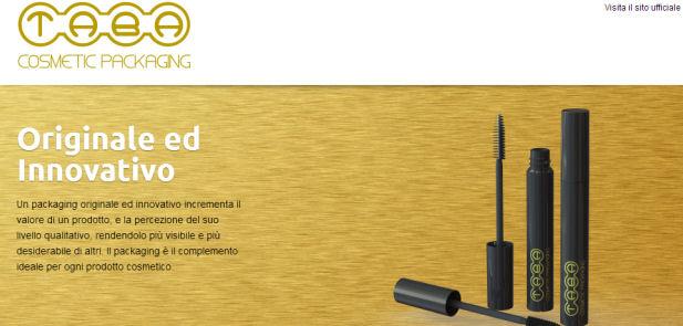 Cosmetic Packaging - realizzazione sito web